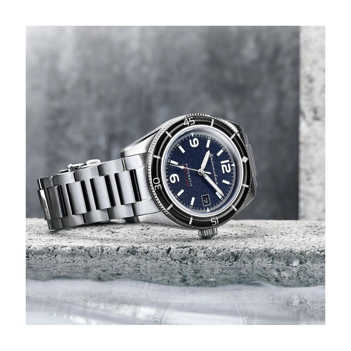 Montre Homme Spinnaker FLEUSS Automatique Cadran bleu Bracelet acier