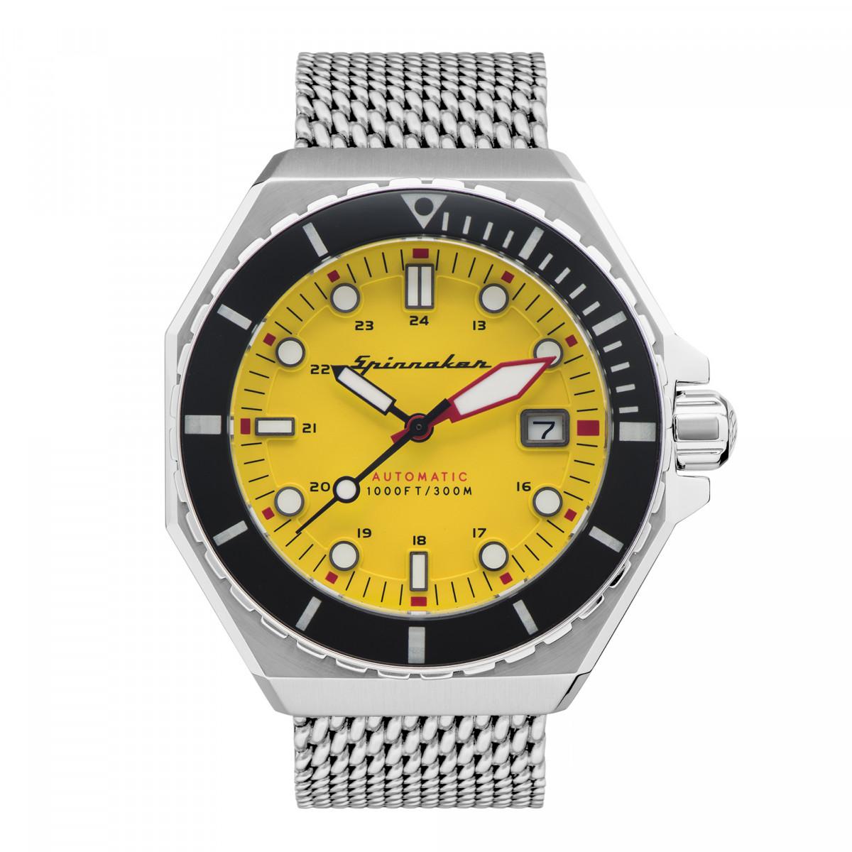 Montre Homme Spinnaker DUMAS Automatique Cadran jaune Bracelet acier