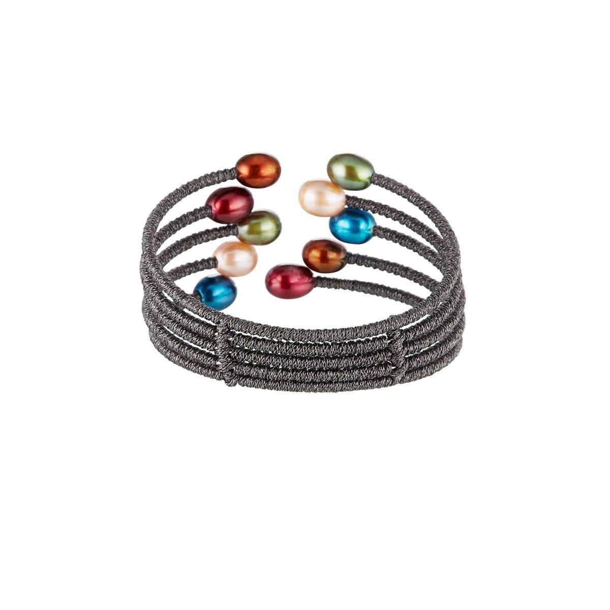 "Bracelet perles multicolores sur cordon ""Perlitas Multicolore"""