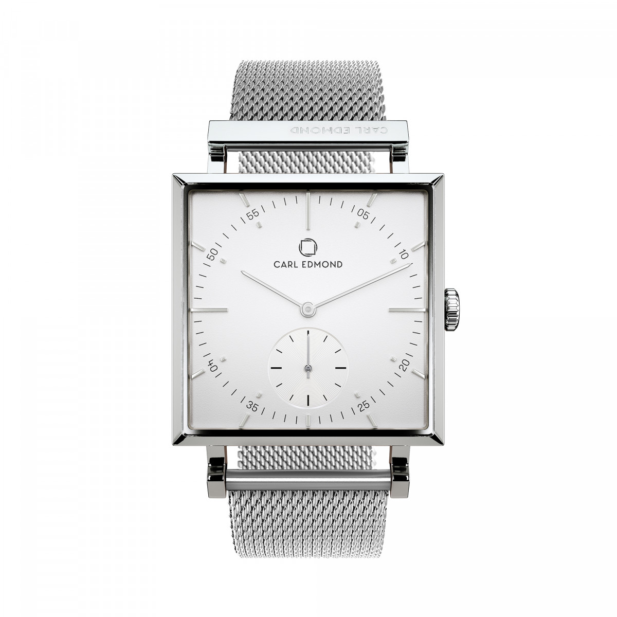 Montre Femme Carl Edmond GRANIT Blanc Silver G2901-MS18 29 mm - Mouvement Suisse