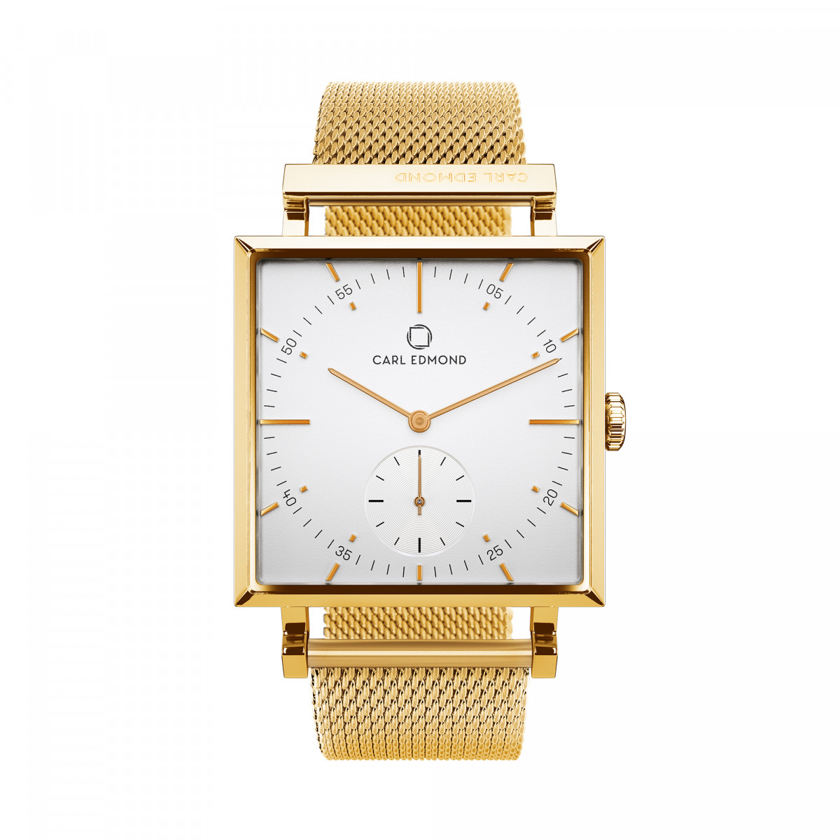 Montre Femme Carl Edmond GRANIT Blanc Gold G2921-MG18 29 mm - Mouvement Suisse