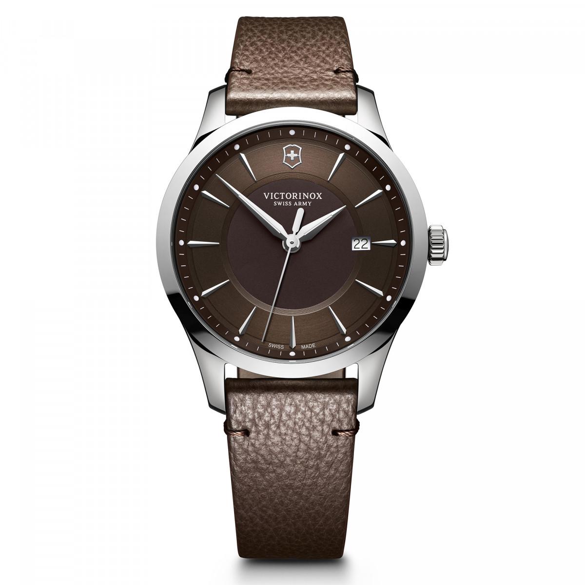 Montre Homme Victorinox ALLIANCE Large, cadran marron, bracelet cuir marron - 40mm