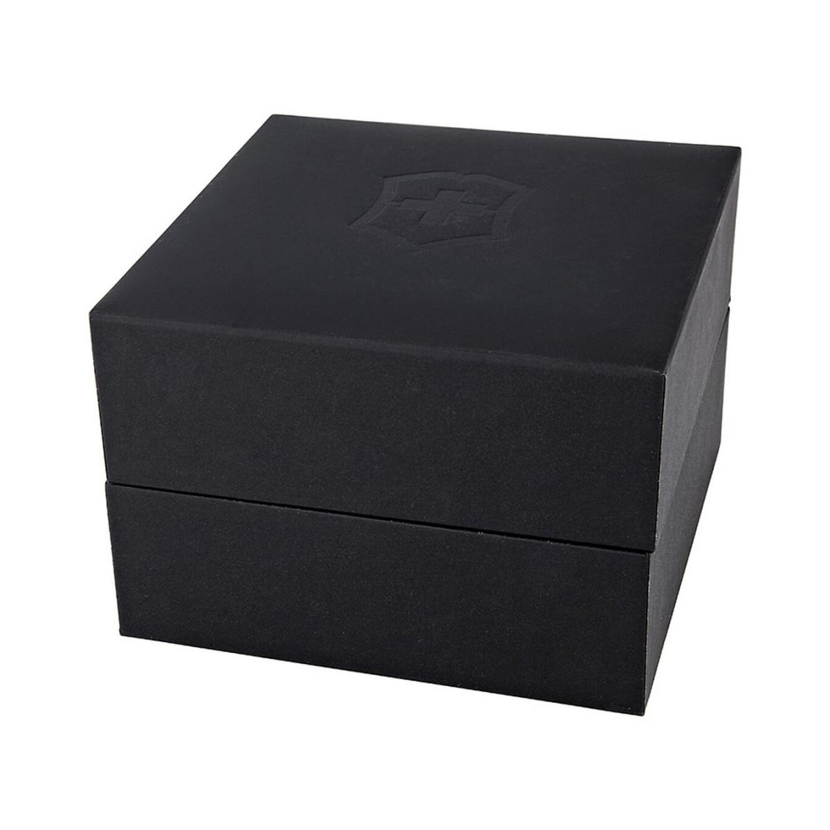 Montre Homme Victorinox FIELDFORCE Sport Chrono, cadran noir, bracelet caoutchouc noir - 42 mm