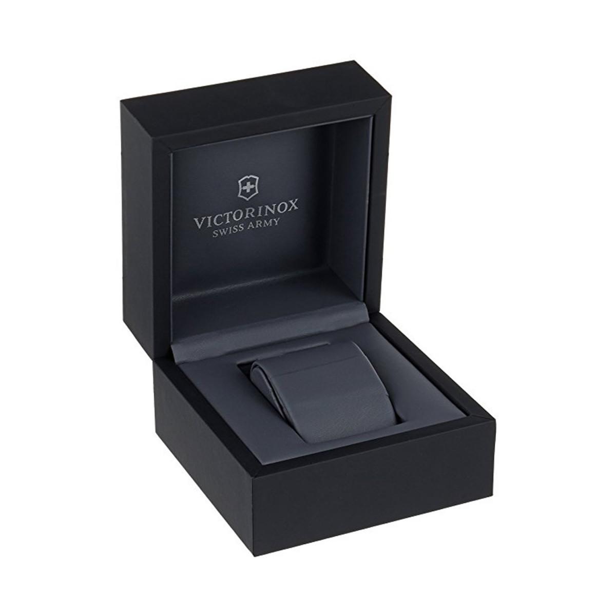 Montre Homme Victorinox INFANTRY, cadran blanc argenté, bracelet cuir marron - 40 mm