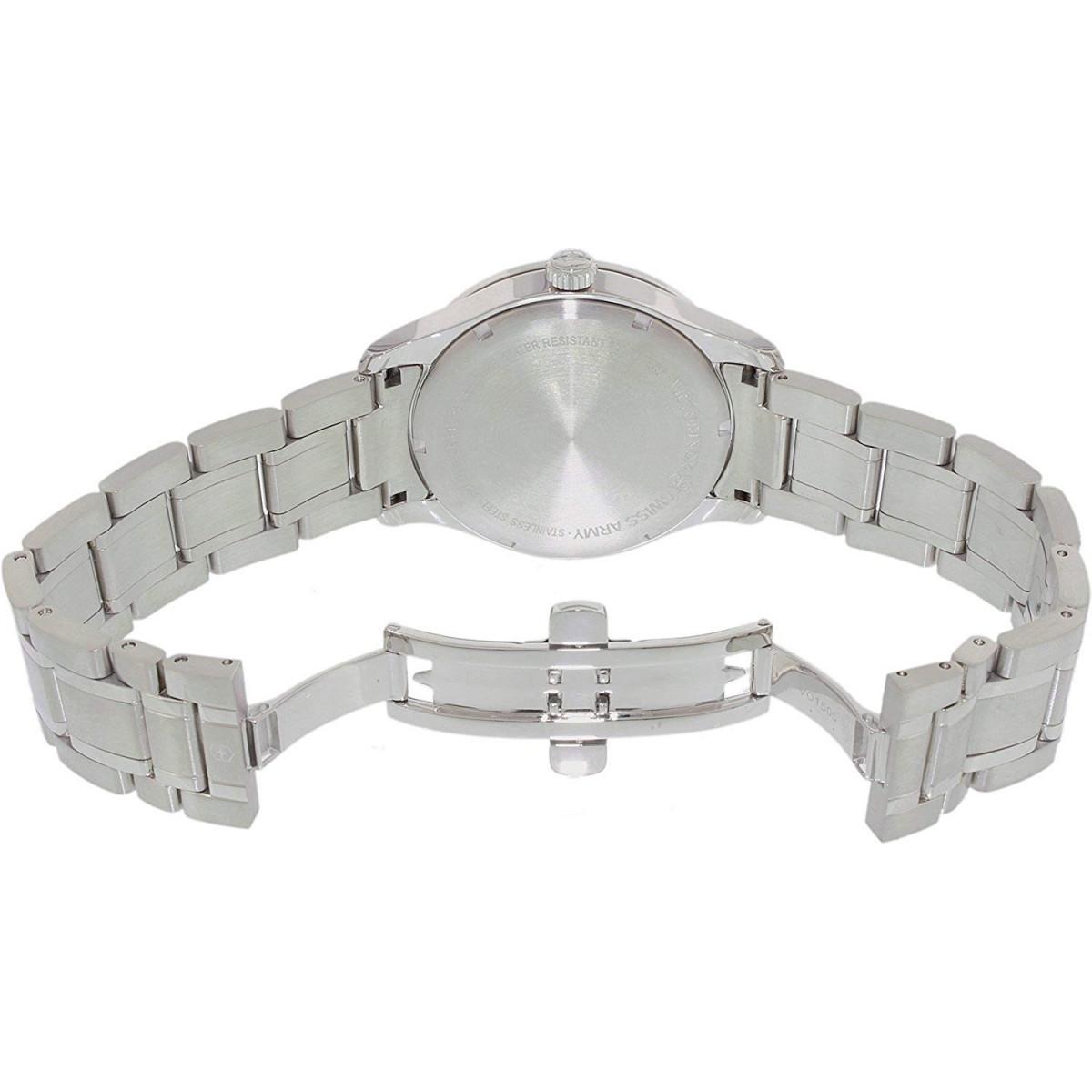 """Montre Homme Victorinox ALLIANCE lunette """"Guilloché"""", cadran argenté, bracelet acier - 40 mm"""