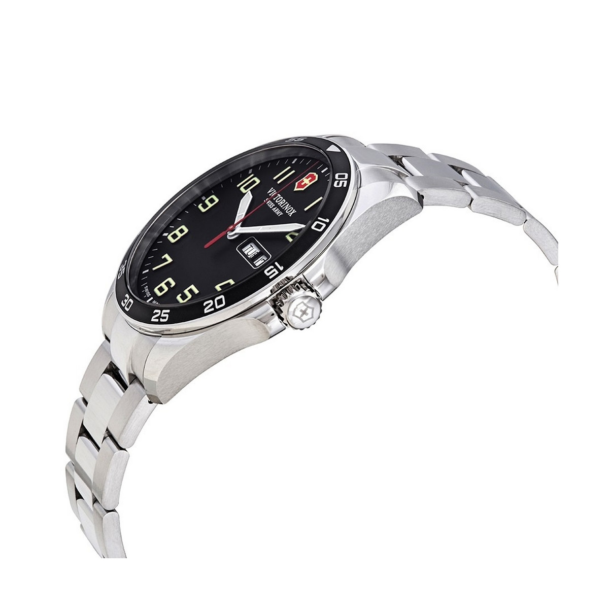 Montre Homme Victorinox FIELDFORCE, boîtier acier inoxydable, bracelet acier inoxydable - 42 mm