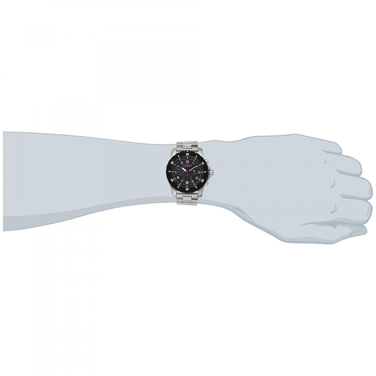 Montre Homme Victorinox MAVERICK Sport Chronograph, lunette synthétique, cadran noir - 43 mm