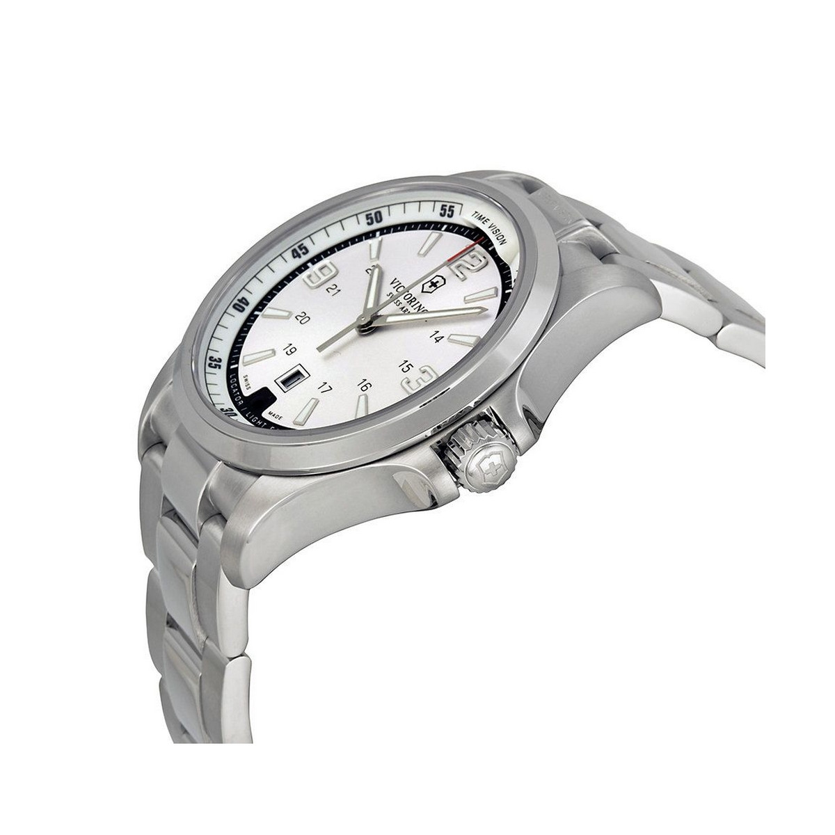 Montre Homme Victorinox NIGHT VISION, cadran blanc argenté - 42 mm