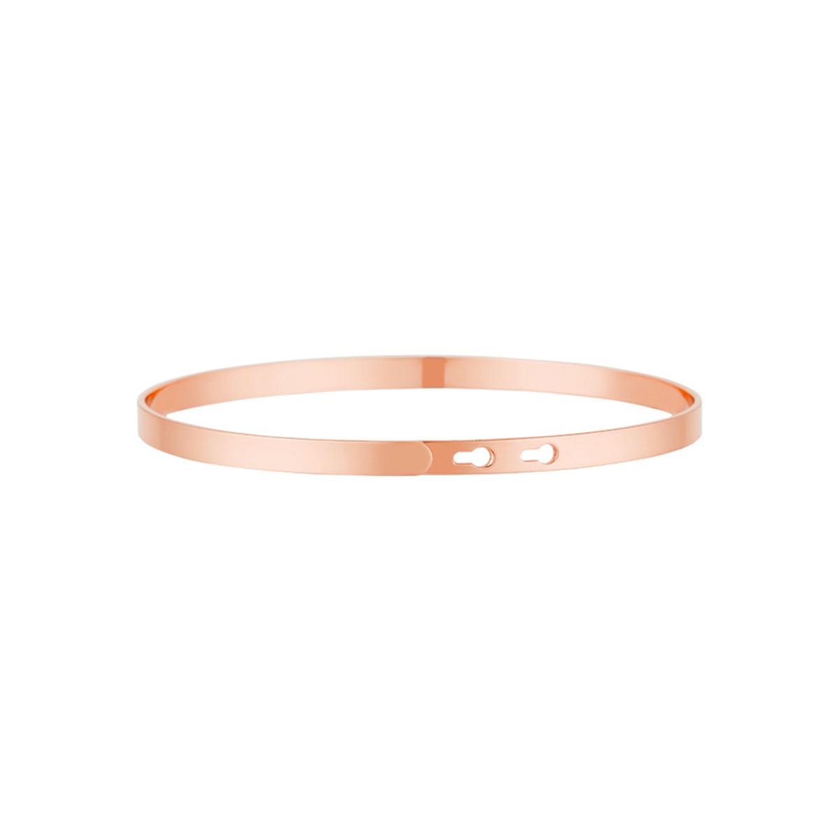 """""""SUPER MAMIE"""" Jonc rosé bracelet à message"""