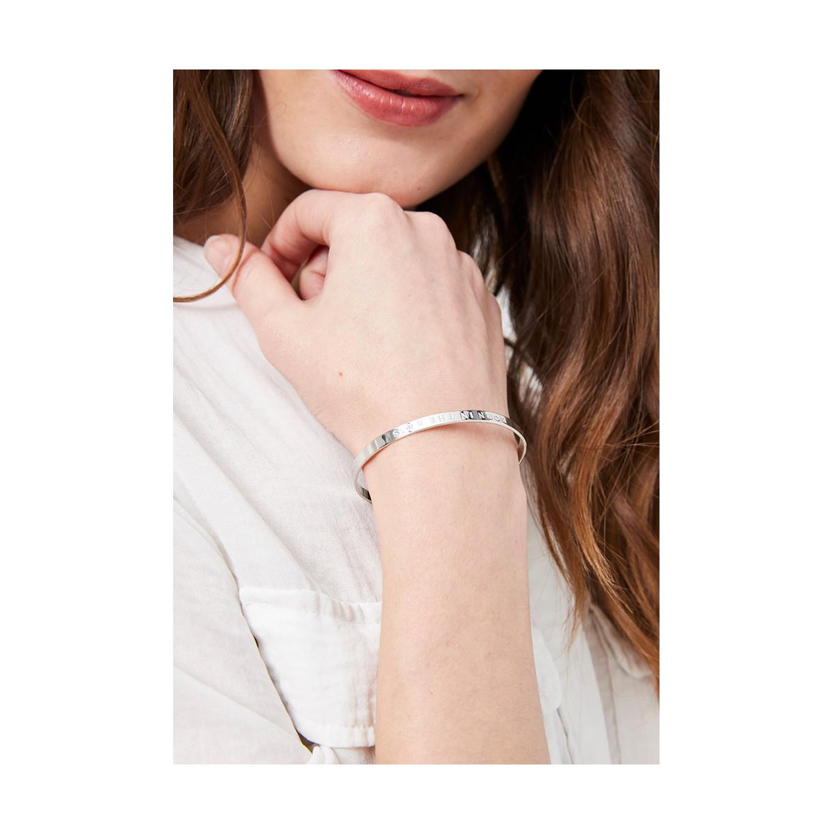 """BIBBIDI BOBBIDI BOO"" bracelet jonc argenté à message"