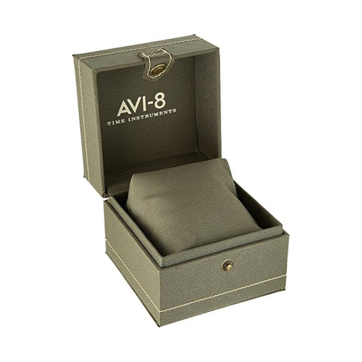 Montre Homme AVI-8 HAWKER HUNTER Quartz Cadran noir  bracelet cuir véritable