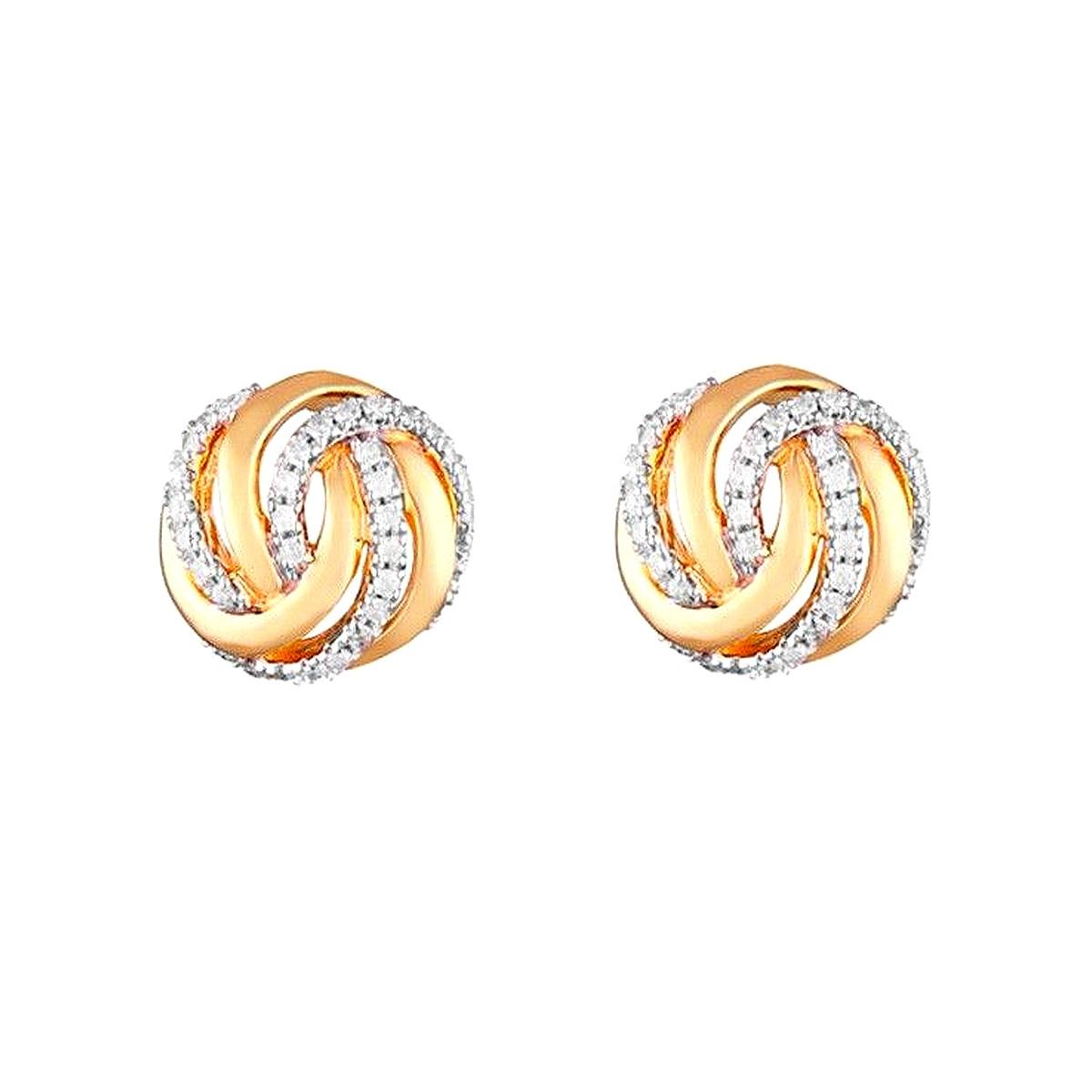 """Boucles d'oreilles Or Jaune et Diamants 0,16 carat """"GOLDEN EYE"""""""