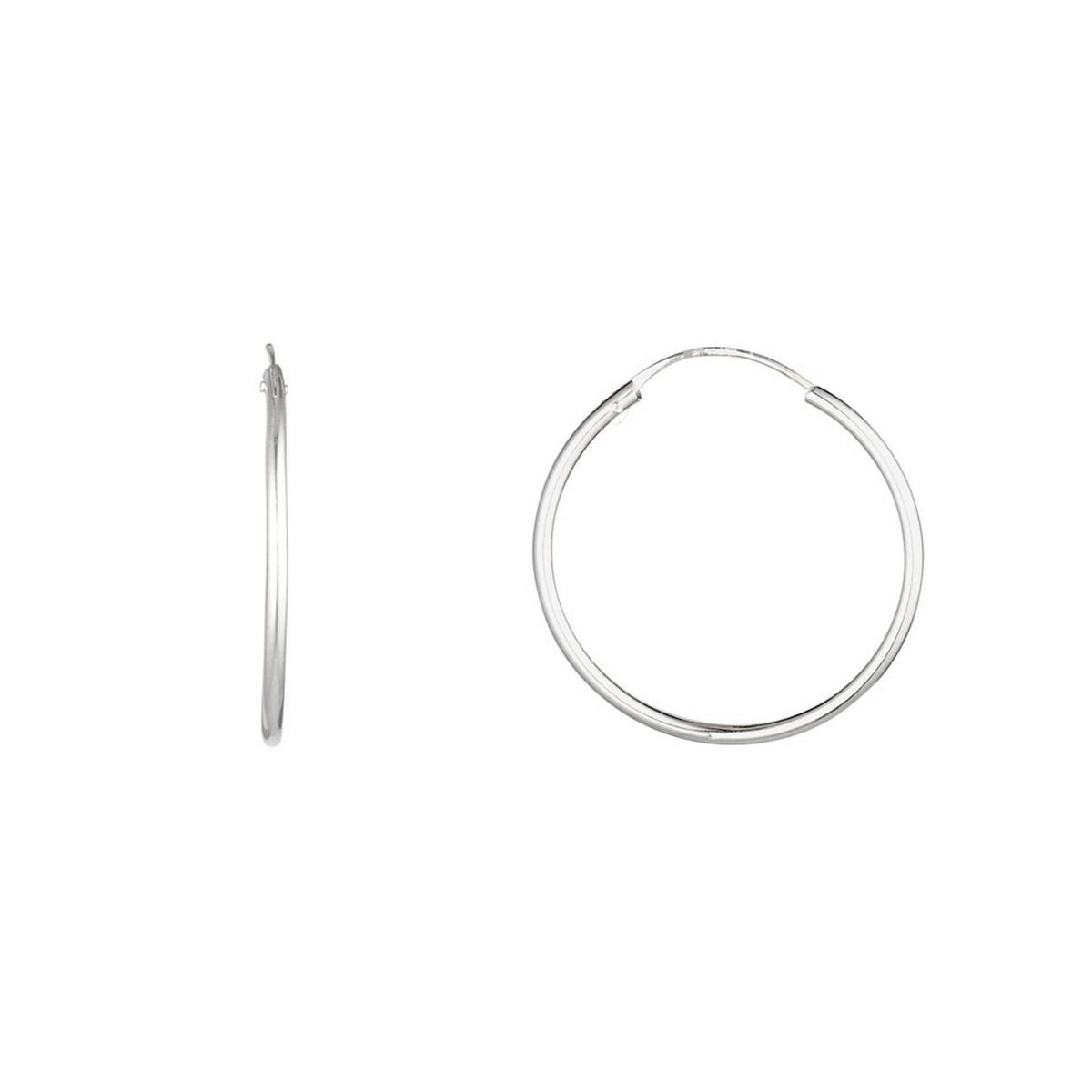 Boucles d'oreilles Or Blanc 375/1000