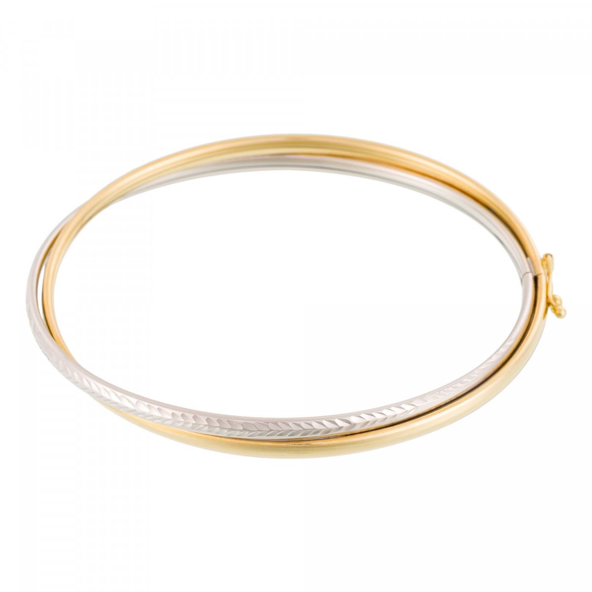 Bracelet Or Bicolore 375/1000