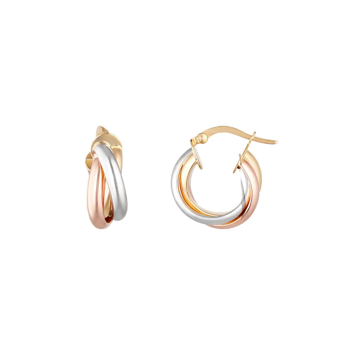 Boucles d'oreilles Or Tricolore 375/1000