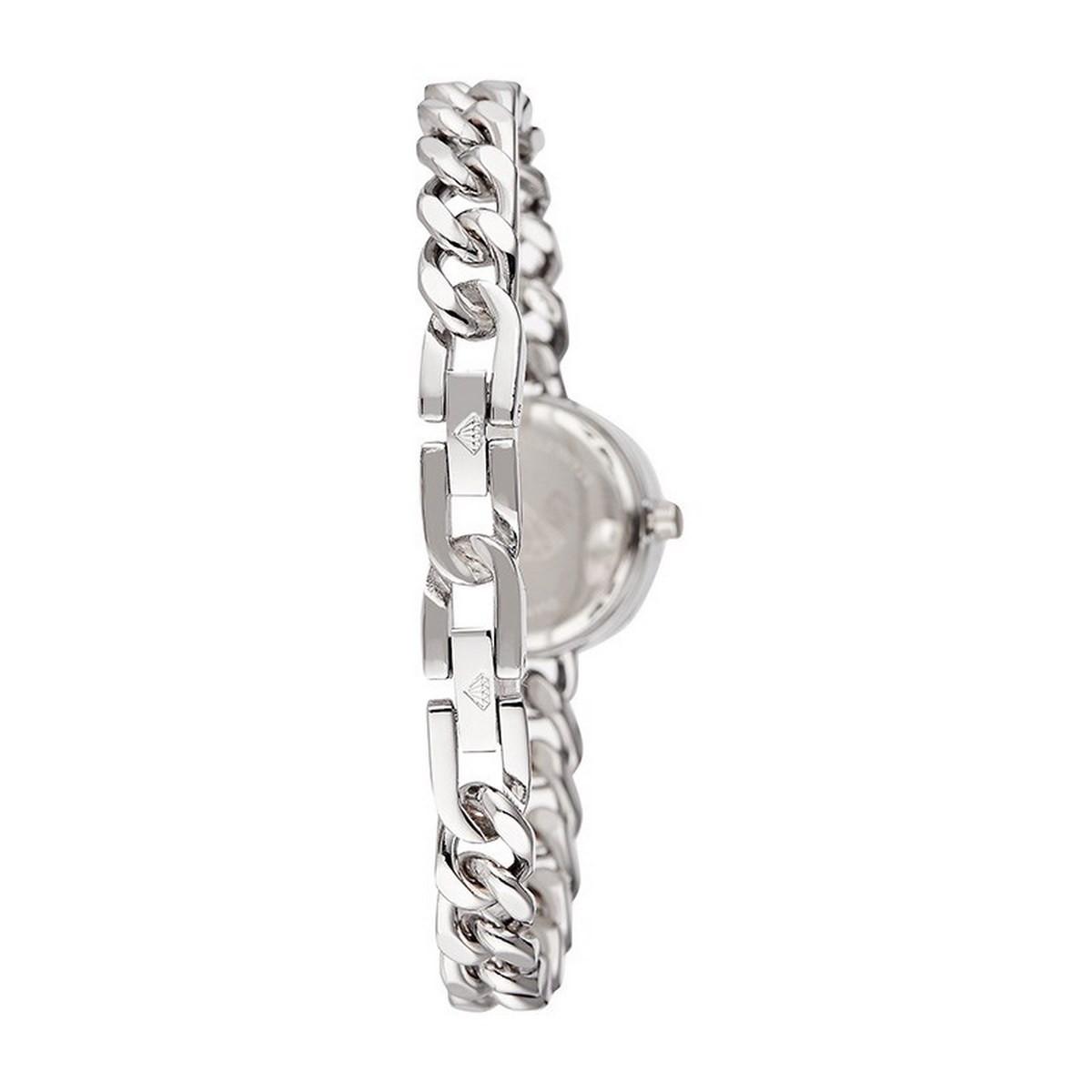 Montre Femme Kate Diamants 0,012 carats - Cadran noir Bracelet métal argenté