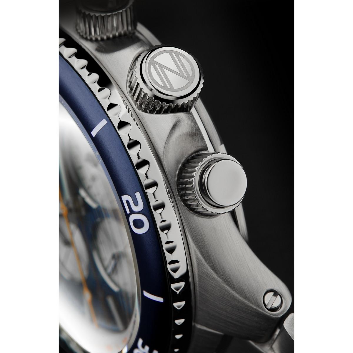 Montre Spinnaker HYDROFOIL CHRONO méca-quartz - cadran bleu