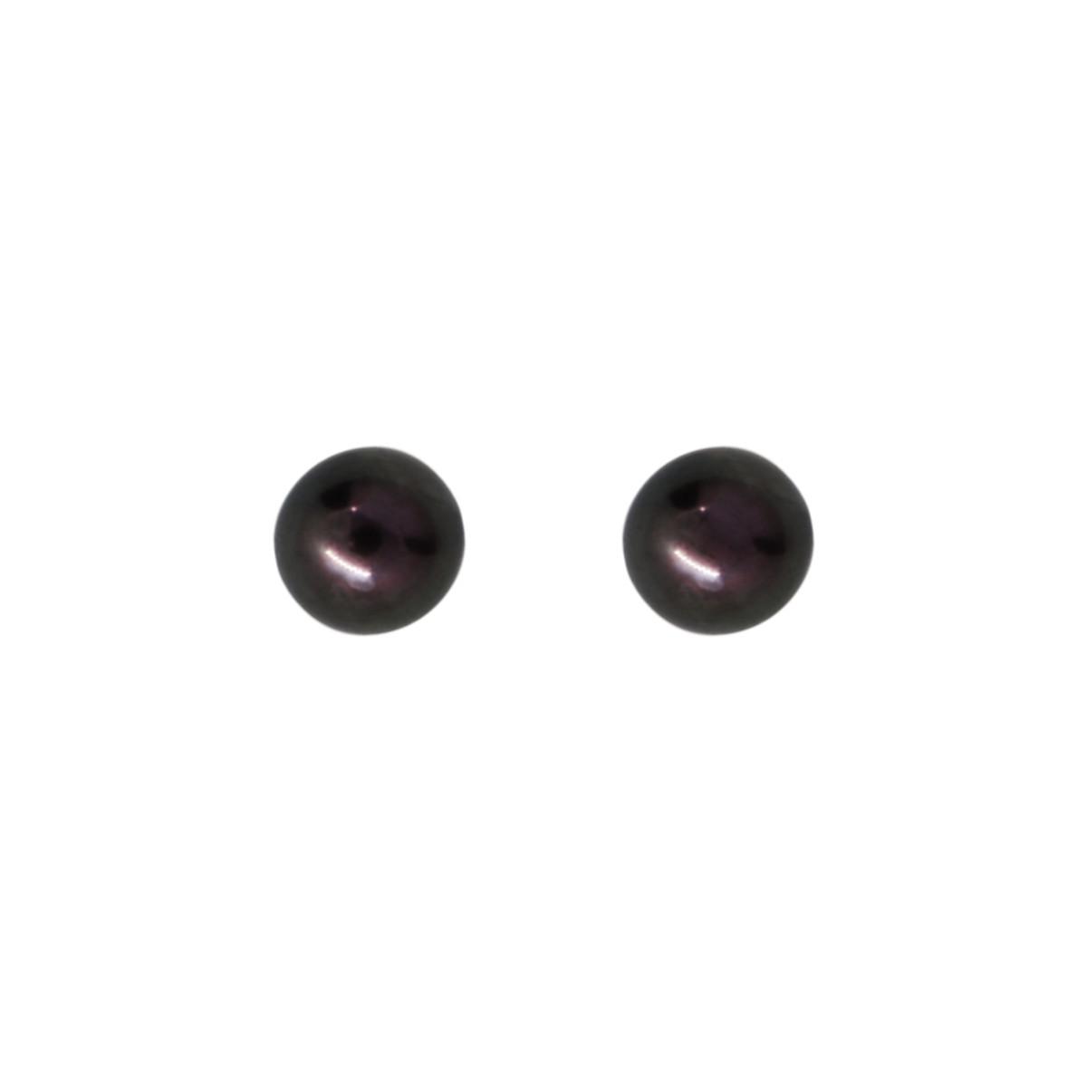 """Boucles d'oreilles or blanc et perles de culture Noires """"My Pearl"""""""