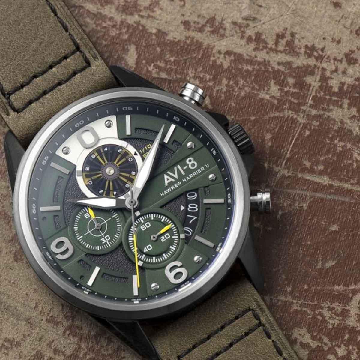 Montre AVI-8 HAWKER HARRIER II Quartz Chronograph - AV-4051-02