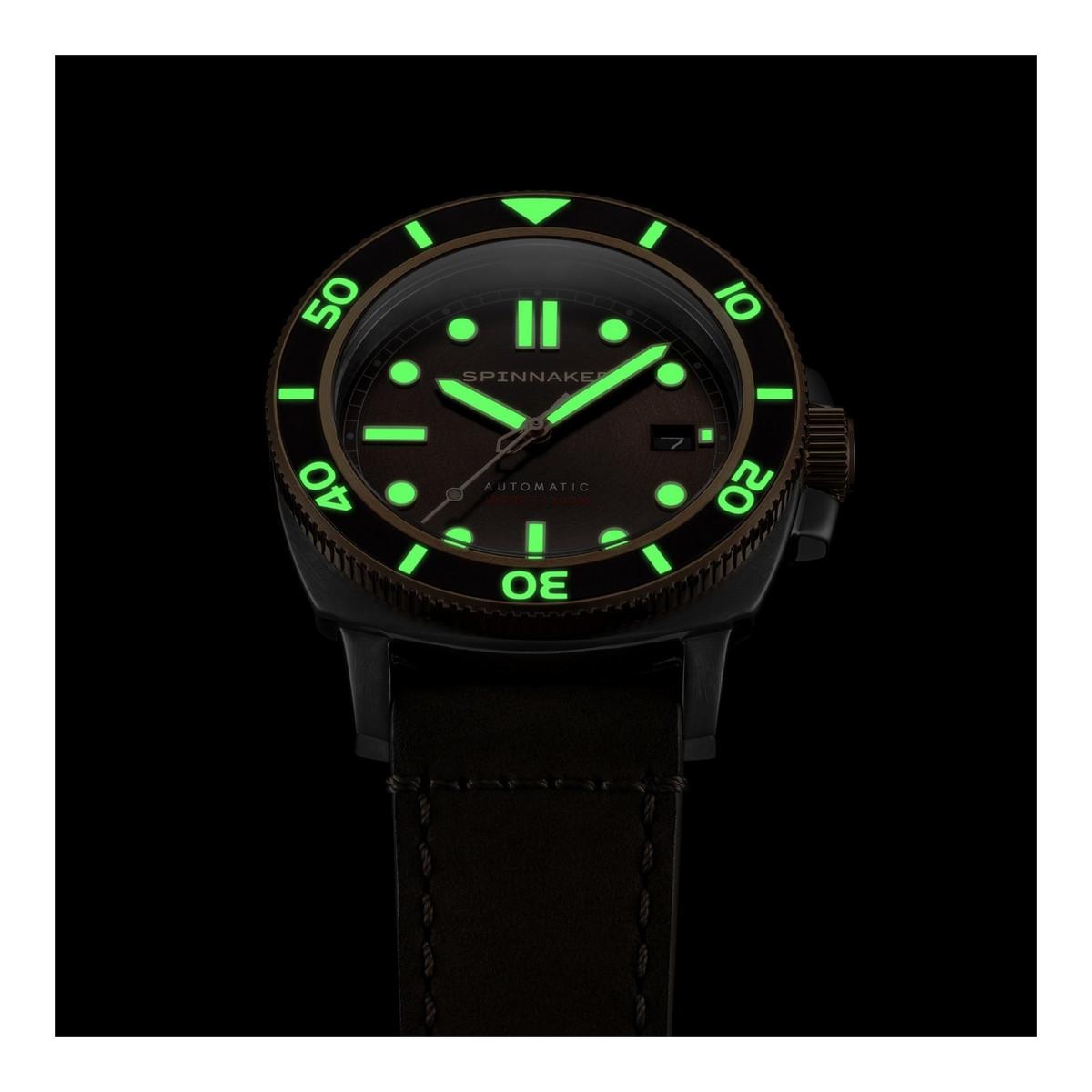 Montre Spinnaker HULL DIVER automatique - cadran et bracelet noir