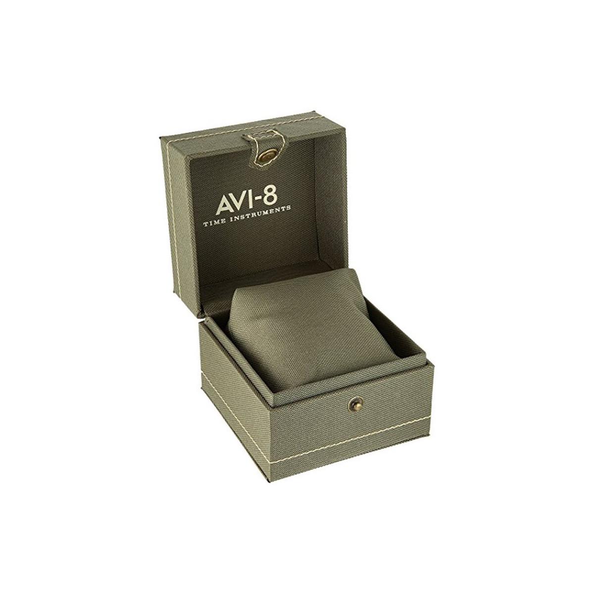 Montre AVI-8 FLYBOY LAFAYETTE méca-quartz cadran noir